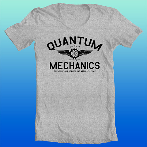 Quantum Mechanics T shirt. Clean minimalist design, Schrodinger's Equation…sweet.