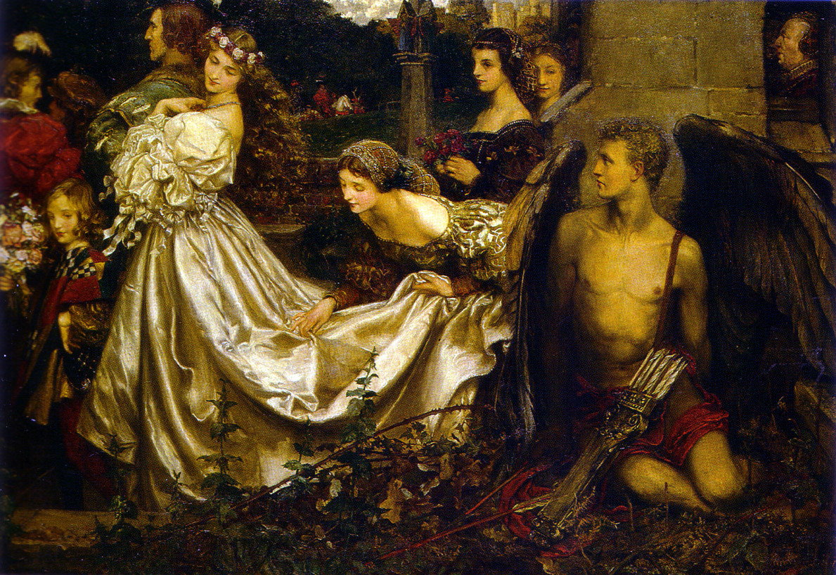 Eleanor Fortescue Brickdale, The Uninvited Guest, 1906