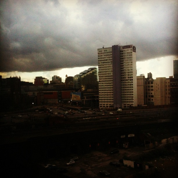 Those #clouds don't look too great. Bad #weather inbound. #manchester #city #home #flat (Taken with Instagram at Tempus Tower)