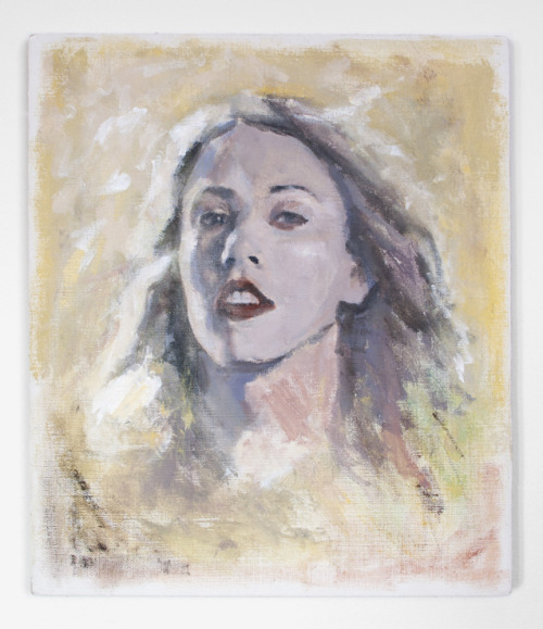 Untitled (Liz Phair), 2012, by Sam Lipp. Acrylic on linen.