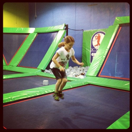 Lived the trampoline room at Grand Slam!  (Taken with instagram)