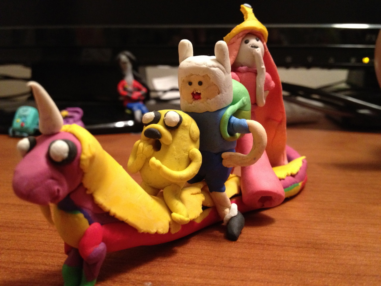 adventuretimefan:  All Along the Rainacorn! submitted by hussiens  AHHHHH! My submission to the official adventure time fan art tumblr went through!. This makes me very happy today.
