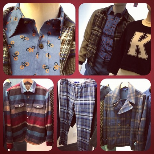 Keds x Opening Ceremony clothing for #fw12. Digging the bicycle shirt. (Taken with instagram)