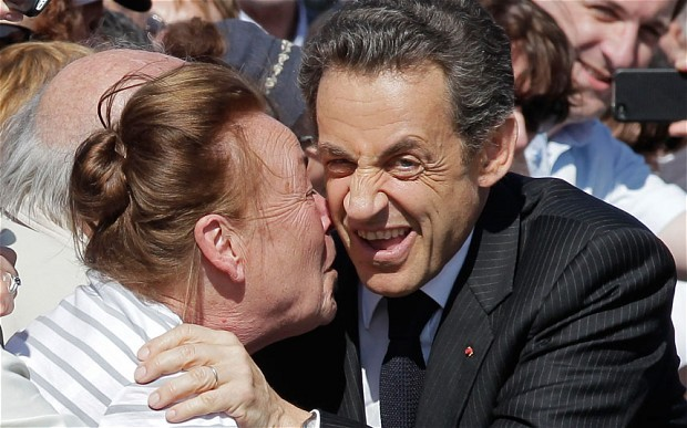 Amazing photo of Nicolas Sarkozy featured in this Telegraph article about French voter fatigue.