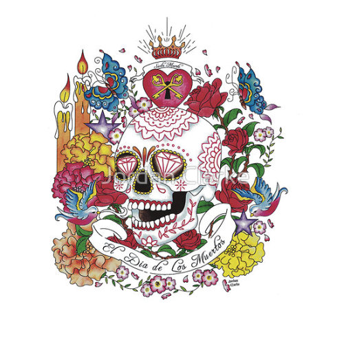 El Dia de Los Muertos by Jordan Clarke Available as an iPhone or iPod case
