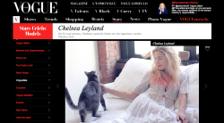 babe chelsea leyland shot by the formula blog's aimee blaut featured on vogue italia! thanks sabine! <3