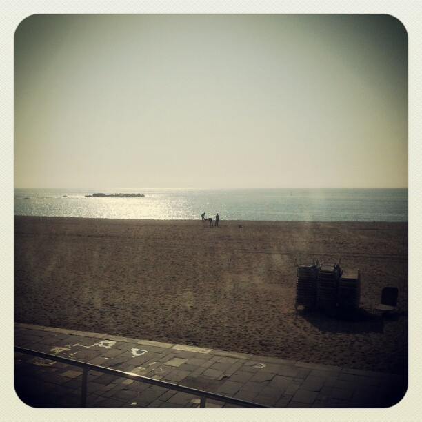 Saturday morning: Platja de la Nova Icaria,  (Tomada con instagram)