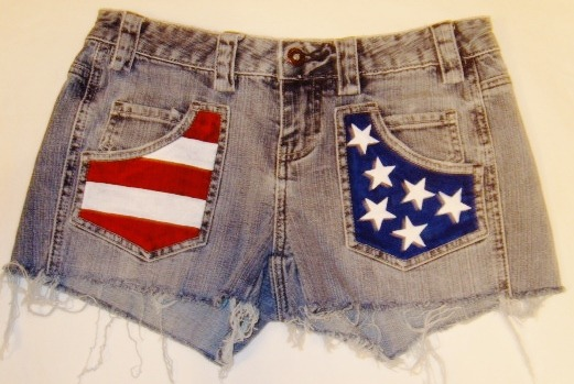Stars & Stripes Pocket Detail Shorts. FOE SALE NOW. UK size 10. Contact me for details.