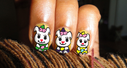 Cute Easter Bunny Nail Art Click on the Link to see Tutorial.