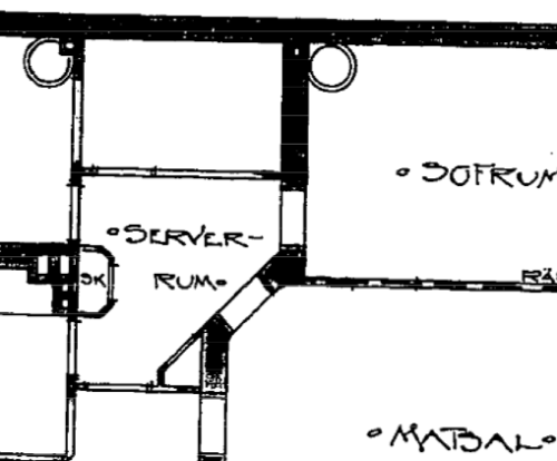 I really like the fact that the original blue prints, from 1902, of my apartment contains a server room!