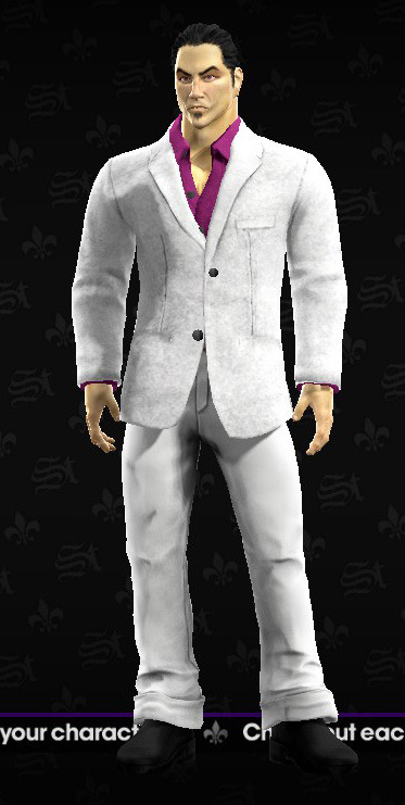 Kazuma Kiryu costume in Saints Row The Third!