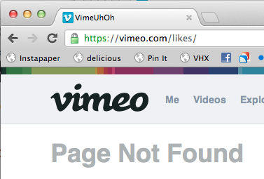 I love this little bit of microcopy! It's the small things that prove your dedication to your brand and users. littlebigdetails:  Vimeo - When visiting a non-existing page on Vimeo, the title is VimeUhOh. /via Joris-Jan van den Boom