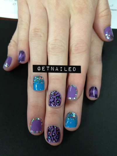 getnail-d:  Rainbow glitter nails