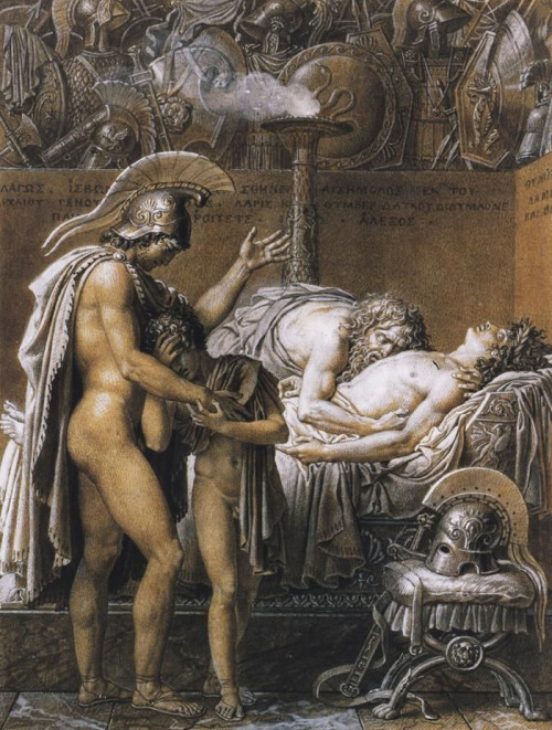 necspenecmetu:  Anne-Louis Girodet de Roussy-Trioson, The Mourning of Pallas, 1791