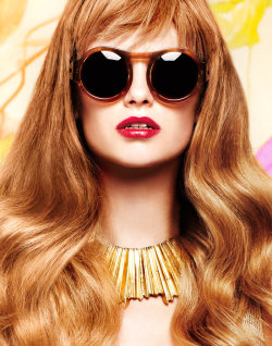 Pucker up: bright lips are mandatory for spring!Iris van Berne for Nylon March 2012