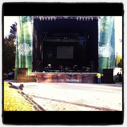 Lollapalooza Chile. Soundcheck. 3.31.12
