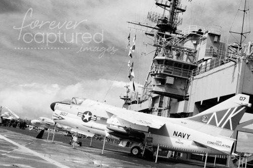 ~ Day 82 ~ USS Midway ~ Black & White ~
