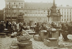 Fruit market on Am Hof square, by Karl Anton Schuster (1900).