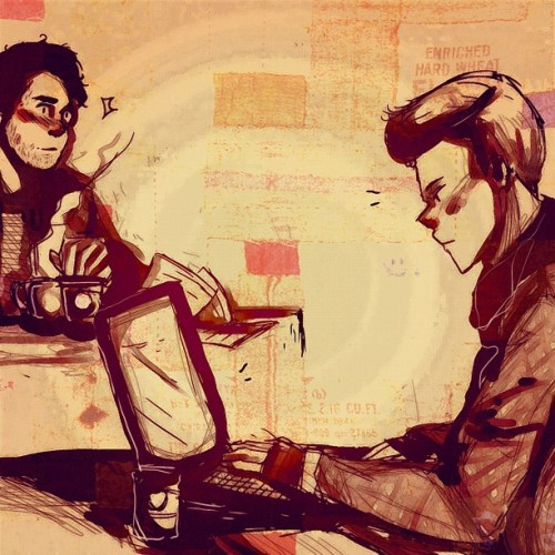 "chatterboxrose:  klaineinred:  chatterboxrose:  rainboenails:  A klaine request for chatterboxrose! Blaine and Kurt meet at a coffee shop during finals week. Problem is due to workload, Blaine looks like a homeless man and Kurt wants nothing to do with boys for this week.  Blaine sort of let himself go during finals week. He forgot to shave, sleep and eat. His roommate told him he looked homeless and wouldn't stop bugging him about it, so Blaine had escaped to the coffee shop down the street to get away from  him (and get some much needed coffee). Blaine had been there for almost an hour when he walked in. The boy was absolutely beautiful. Unlike Blaine, he was put together and cool, and breezed by Blaine's table with an air of elegance that Blaine couldn't even master outside of finals week.  He ordered a coffee and sat down at a table near Blaine's. After almost thirty minutes of staring at him, Blaine finally pushed himself up from the table. It was obvious he wasn't getting any work done. Might as well ask him out and get back to studying… ""Hello,"" said Blaine when he arrived at the boy's table. The other boy looked up from his laptop, raising an eyebrow at him as he looked Blaine up and down. Blaine flushed. He was wearing university sweets right now (which he'd probably had on since yesterday, now that he thought about it more). Damn.  ""I was just wondering if I could buy you a coffee?"" asked Blaine.  ""I'm studying,"" said the boy, his voice just as flawless as the rest of him.  ""Oh - I mean - we all need a break?"" he asked."" ""Look,"" said Kurt, dropping a pen he had been twirling in his hand. ""No offence, but first off, you look homeless. I'm a fashion design student - and honestly, I think just being near you right now is lowering my grade - and secondly, I am no thinking about boys at all this week. I need to get my studying done, without distractions so no, I can buy my own coffee, thank you.""  Blaine stared at the boy with wide eyes before retreating back to his table, embarrassed. He supposed the boy had a point…but he wasn't always this unkept.  Blaine steeled himself, looking over at the boy again, who was once again engrossed in his computer. He would show him exactly how put together and not homeless Blaine Anderson looked on any given day.   I DEMAND A SECOND PART I DEMAND WITH THE POWER OF A THOUSAND POUTY PUPPIES  The next day, Blaine walks into the coffee shop, fresh out of a shower and his hair gelled back. He's wearing his favorite pair of red high waters, black polo and a bowtie to match. He slips off his yellow sunglasses and scans the cafe. He spots him immediately. He's in another fabulous outfit (obviously he's a fashion student) looking over a large book and tapping his fingers on the table absently. Blaine takes a deep breath and walks straight for him.  ""Hello,"" Blaine said, stopping in front of the table.  The boy looks up - does a double take - and raises an eyebrow. ""Homeless boy from yesterday?"" he asked, his voice laced with humor.  ""Not homeless,"" said Blaine. ""Just, well, stressed from finals. I forget basic social rules like showering and dressing up. This…this is how I usually am."" ""Hmmm,"" said the boy, looking at him for another moment. ""I approve.""  Blaine's heart jumps. ""Maybe I can interest you in that coffee?"" ""No."" Blaine's heart drops just as quickly. ""But -"" ""Even I'm not that shallow,"" said the boy with an eye roll. ""Just changing your clothes won't make me break my no boys rule for this week. I need to pass."" ""I…I understand,"" sighed Blaine. ""I'll just - leave you to it."" ""Wait."" Blaine turns at the boy's voice. He's writing something down on a paper, then he holds it out for Blaine. He takes it, their fingers touching for just a moment. ""What's your name?"" asked the boy with a small smile. ""Blaine."" ""Kurt,"" he said. ""I'll talk to you later, Blaine."" Blaine looks down at the paper. Kurt's name is written there, along with a phone number. Blaine looks up, smiling. ""Later, as in, after this week?"" asked Blaine.  Kurt nods, a true smile coming to his face."