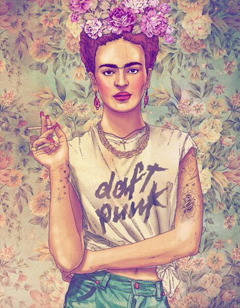 love this. Icons as Hipsters by Fab Ciraolo