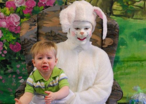 Creepy Easter Bunny Makes Child Cry Here comes Peter Cottontail… so lock your doors. [Like following us on Tumblr? Join the party on Facebook!]