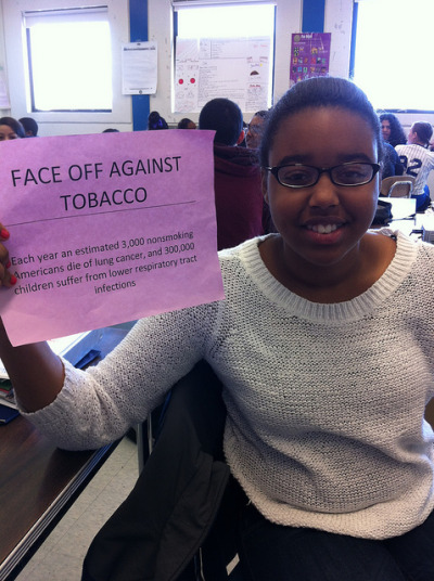 "Face Off Against Tobacco on Flickr. ""That's bad."""