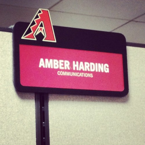 Name plate means I'm official. (Taken with Instagram at Chase Field)