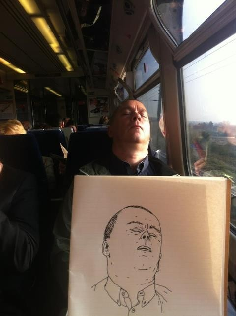 That awkward moment when somebody sketches you on the bus