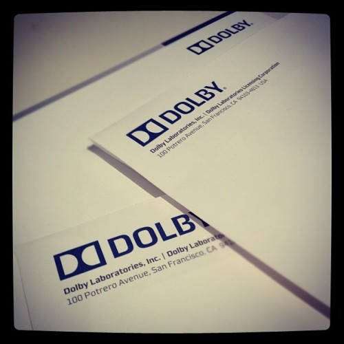 Getting any MAIL from us? Keep an eye out for our Dolby letterhead! #photoadayapril (Taken with Instagram at Dolby Laboratories, Inc.)