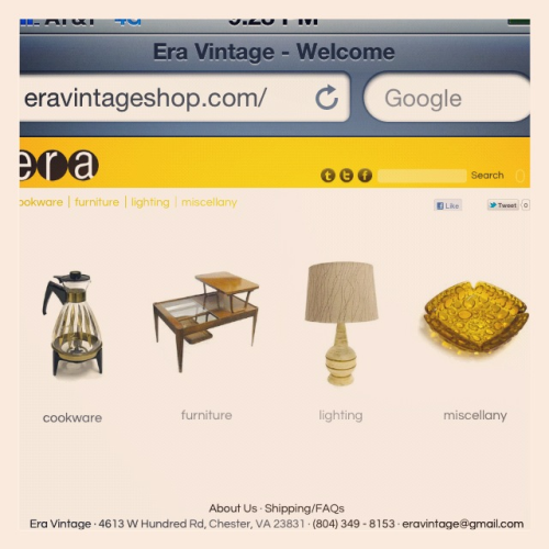 It's officially up and running! Ladies & gentlemen, www.eravintageshop.com