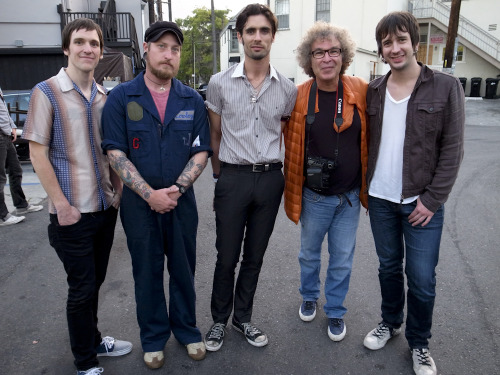 Big pileup of my The All-American Rejects photos on the front page of BuzzNet right now! That's me in the red jacket.  Photo by Erica Lauren
