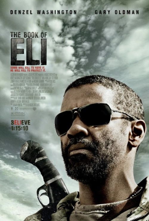 "97/365 ""Book of Eli"" directed by Albert and Allen Hughes, starring Denzel Washington, Mila Kunis, and Gary Oldman. From IMDb:  A post-apocalyptic tale, in which a lone man fights his way across America in order to protect a sacred book that holds the secrets to saving humankind.   This was actually pretty good. I mean, Denzel is a badass. Also, Mila mmmmI give it a 4.5 out of 5."