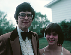 Ira Glass at his prom, 1970s