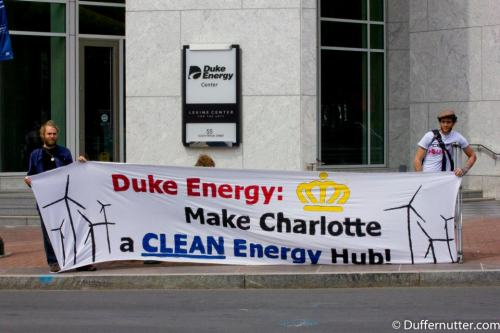Duke: Make Charlotte a CLEAN Energy Hub. No more profits for pollution!