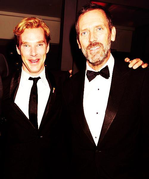 two-two-one-bakerstreet:  Sherlock and Doctor House? …. Mother of genius….   Zeus has blessed me with a photo of these two. Seeing them together in a photo is like seeing two suns colliding. Friendly collision.