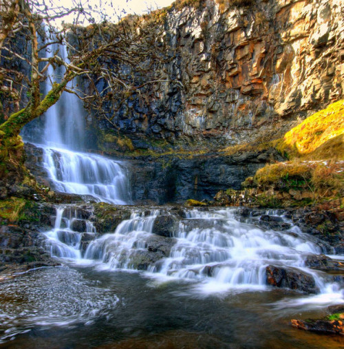 beautyofskye:  Carbost Falls, Isle of Skye, Scotland by ewanmorgan on Flickr.