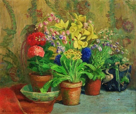 Athenia Belknap Hastings Easter Flowers 1926