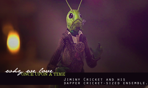 Jiminy Cricket and his dapper cricket-sized ensemble.