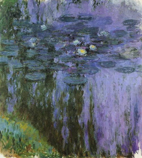 Nymphéas, reflets de saule by Claude Monet