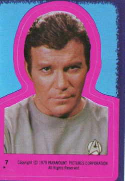 Tading card sticker - Star Trek - Captain kirk #7 1978 by Jimmy Tyler on Flickr.