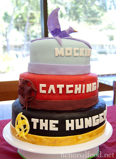 booksdirect:  The Hunger Games trilogy cake based on the books by Suzanne Collins.