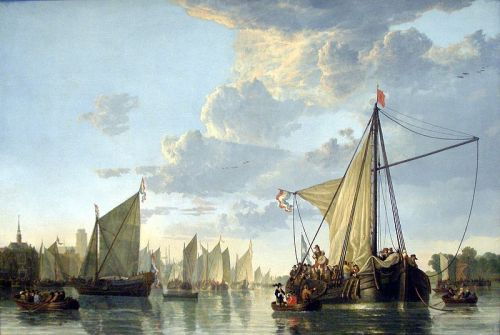 The Maas at Dordrecht by Aelbert Cuyp, c.1660. Cuyp was a landscape painter in the Netherlands during its Golden Age of the seventeenth century.