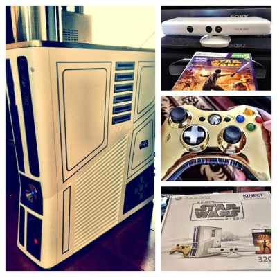 Yea I'm a star wars fan (: #xbox360 #kinectstarwars #starwars #r2d2 #c3p0 #jedi (Taken with instagram)