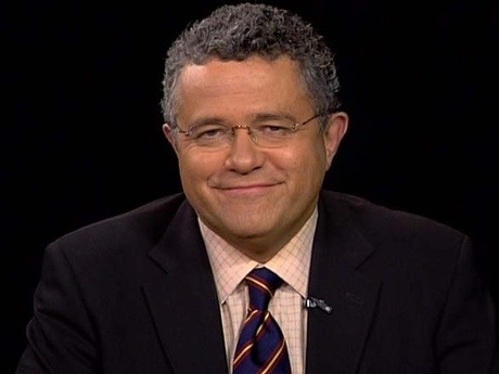 "thenewrepublic:  How did Jeffrey Toobin keep up the ""train wreck"" echo chamber? ""There are two ways to explain the early onset of liberal panic over last week's health care hearings at the Supreme Court. In the first, Solicitor General Don Verrilli turned in an unexpectedly weak performance during last Tuesday's oral arguments, flubbing tough questions from the court's skeptical swing votes. In the second, New Yorker writer and CNN legal correspondent Jeffrey Toobin got on television and scared the hell out of all of us."" - Simon van Zuylen-Wood, Jeffrey Toobin's Big Week Photo courtesy of The Charlie Rose Show  An interesting example of how one line can greatly influence the overall discussion. It's of note that Toobin's analysis is a bit more tempered in this New Yorker article."