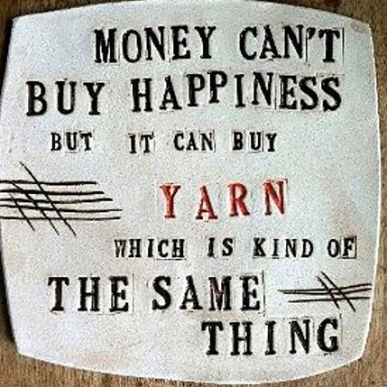 weekendknitter:  ellieraineknits:  So true ;-)  Yes.