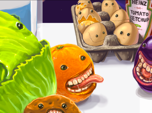 I spent all of last night painting foods with faces. Story of my life.