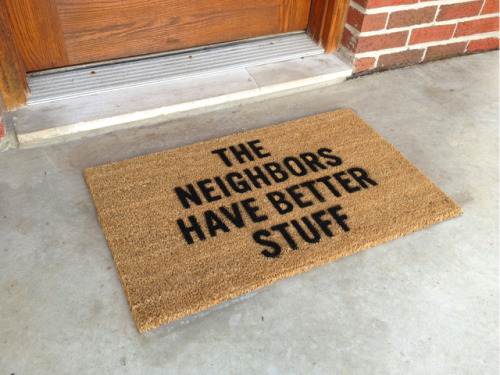 laughingsquid:  Defensemat, A Cleverly Designed Anti-Theft Doormat  A different take on your neighborhood watch program…