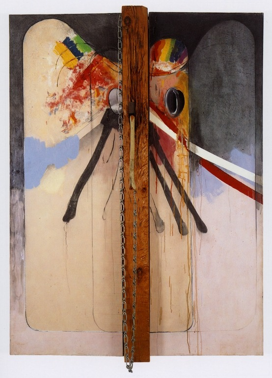 cavetocanvas:  Jim Dine, Hatchet with Two Palettes, Slate No. 2, 1963