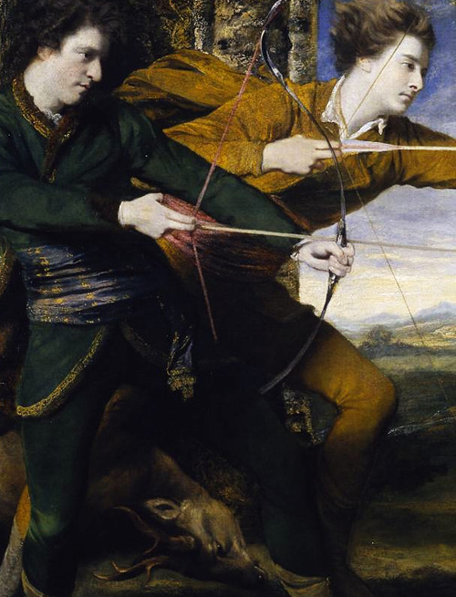 Joshua Reynolds (1723-1792), The Archers (Colonel Acland and Lord Sydney) (detail), 1769