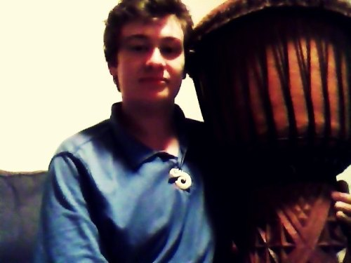My new djembe from Guinea.  Just played it for about 2 hours and I can feel my pulse in my hands.